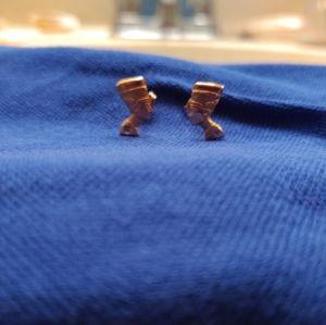 20 KT Gold Nefertiti Earrings